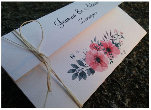 Rustykalne zaproszenie ślubne, na ślub