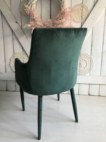 Krzesło zielone welurowe