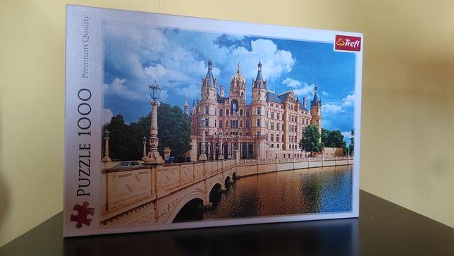 Puzzle 1000 Trefl   kompletne   Zamek w Schwerinie