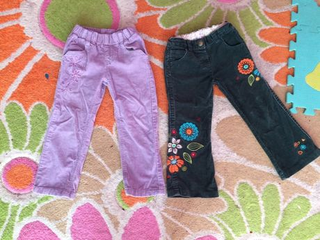 Штаны вельветовые для двойни 2-3 года