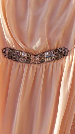 Vestido Zara Rosa claro estilo Romano