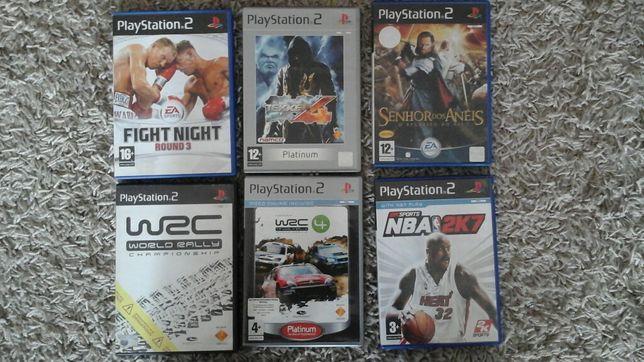 Vendo 6 Jogos PS2 com Mini-Manual PS2 em Português