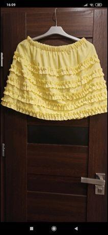 Żółta spódnica nowa