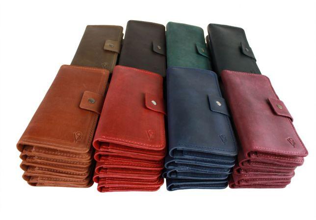 Кожаный мужской женский кошелек портмоне опт натуральная кожа Sullivan