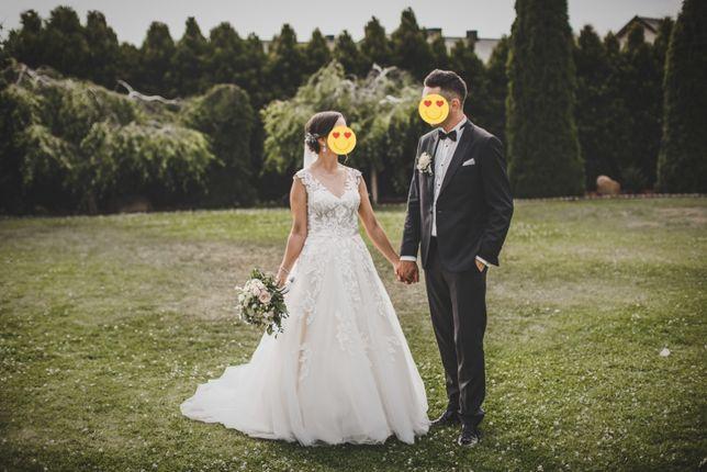 Suknia ślubna kremowa
