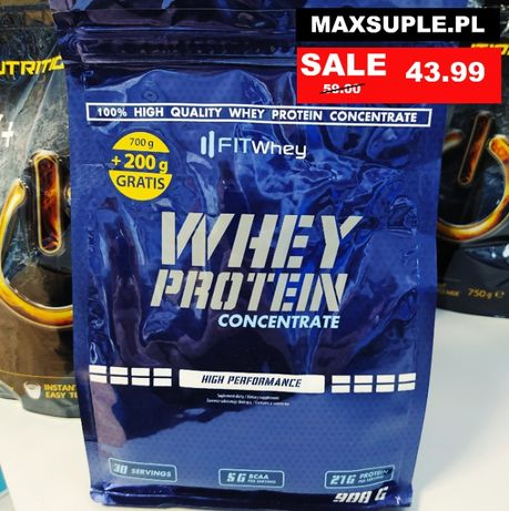 Maxsuple.pl Fitwhey Whey Protein Concentrate 900g