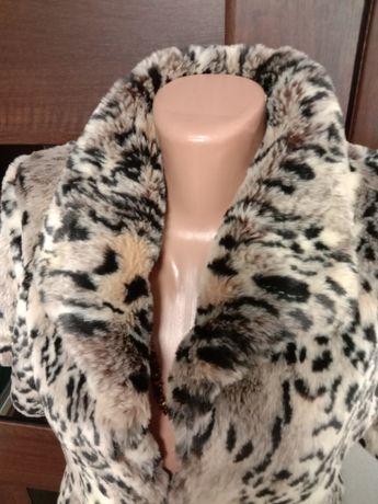 Крутая жилетка безрукавка эко мех леопардовый принт