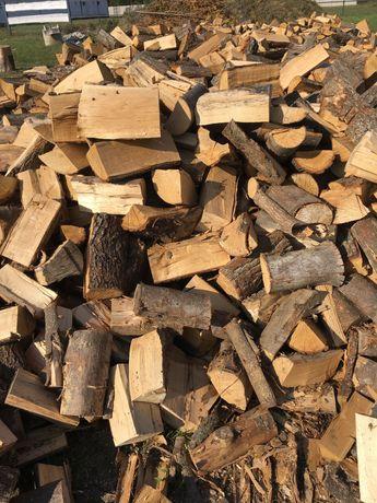 Drewno drzewo kominkowe rąbane buk bukowe opalowe sezonowane