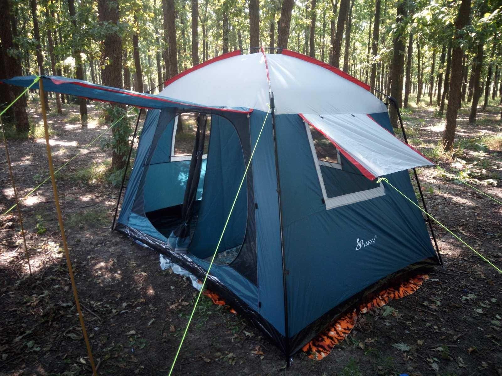 Палатка 6-ти Местная 3*2,2*1,95 Тент для кемпинга с ДНОМ,СУПЕР ЦЕНА!!!