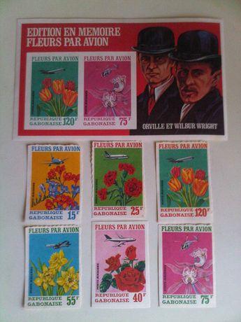 Продам марки Габон 1971 цветы