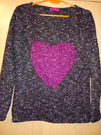 Cieplutki sweterek serce