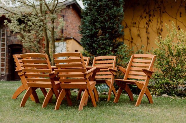 Meble ogrodowe drewniane tarasowe składane typ X