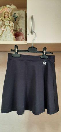 Школьная юбка, синяя, 7-8 лет