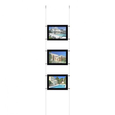 Display led 4 x A4 displays led iluminados montras ( kit completo)