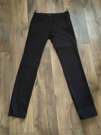 Bawełniane eleganckie czarne spodnie damskie