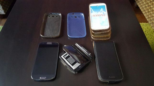 Samsung Galaxy S III S3 i9300 avariado + Acessórios