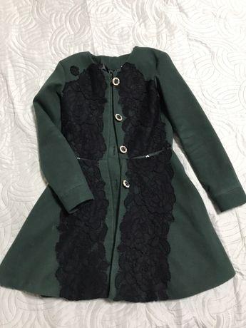 Дитяче кашемірове пальто на дівчинку 146-152 см