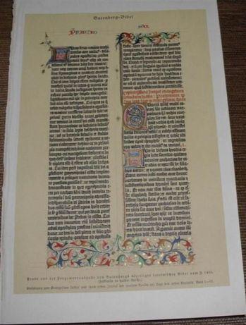 SZTUKA, SZKŁO, BIBLIA GUTENBERGA oryginalne XIX w. grafiki do wystroju