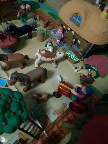 Wesoła farma deagostini figurki, zwierzeta, mata, Przyjaciele z lasu
