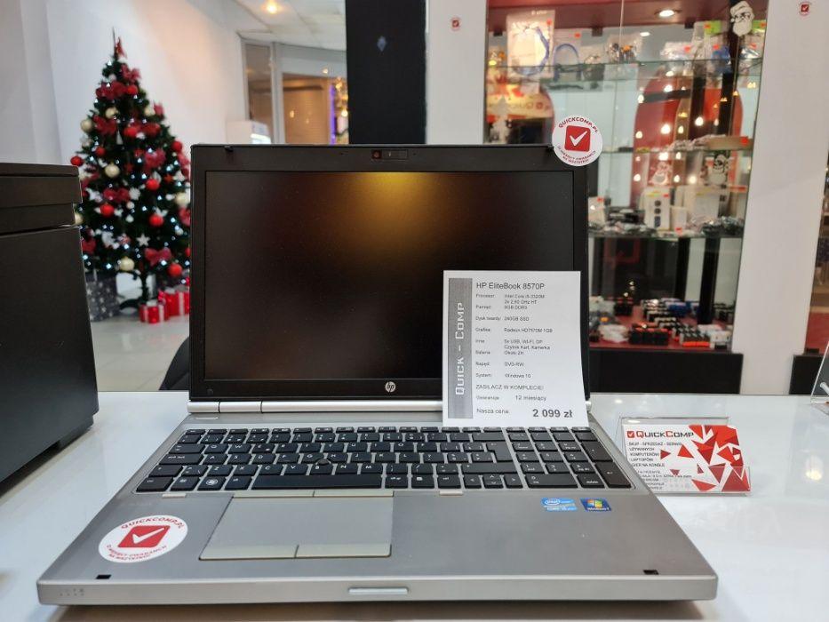 HP EliteBook 8570P i5/2x2,60GHz HT/8GB DDR3 /240 SSD / 12MSC Gwar. Przemyśl - image 1