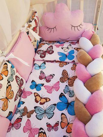 Постіль в ліжечко бортики захист   комплект в кроватку постельное