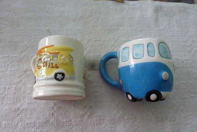 Dwa zabawne kubki dla dzieci