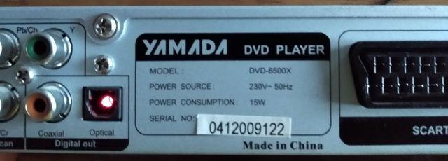 Odtwarzacz DVD - yamada 6500X Video MPEG4 mp3 CD-RW DVD-RW HDCD PLAYER