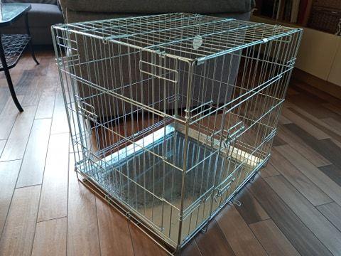 Klatka kennelowa dla psa JAK NOWA - 64x55x60 cm
