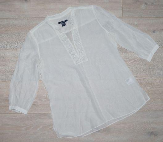 GANT M/L luźna lekka koszula tunika 31 % JEDWAB
