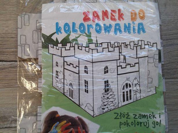 NOWY Zamek do kolorowania tekturowy do składania dla dzieci zabawka