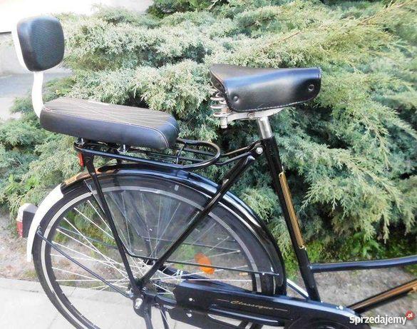 Siodełko dla dziecka lub 2 osoby z oparciem na bagażnik roweru -NOWE