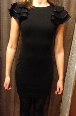 Czarna wizytowa sukienka mała czarna R.XS/34