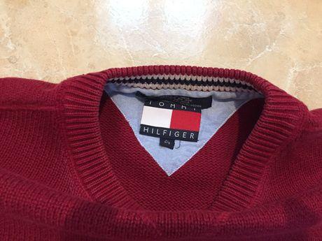 Sweter tommy hilfiger bordowy