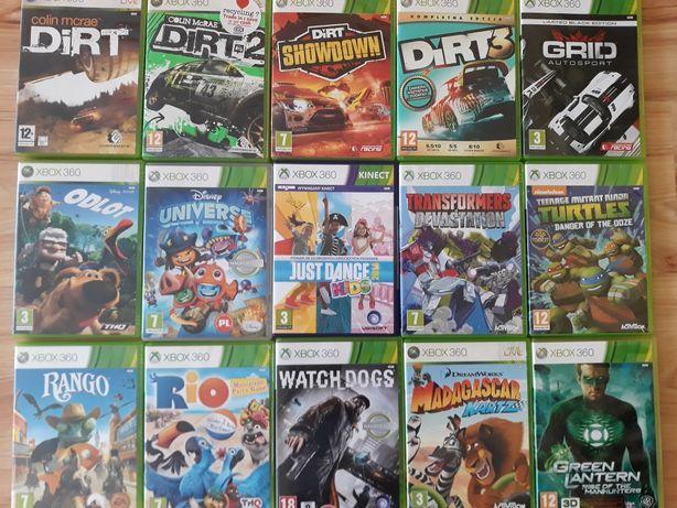 Dirt Watch Dogs Żółwie Ninja Transformers Rango odlot gry Xbox 360