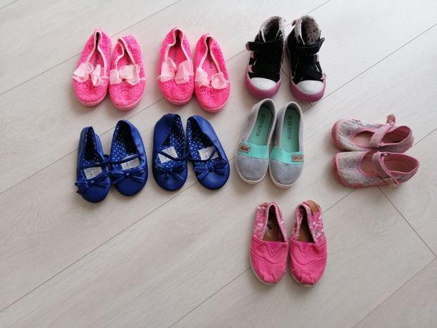 Buty dla dziewczynki, trampki, pantofle 22, 23, 25, 26, 27