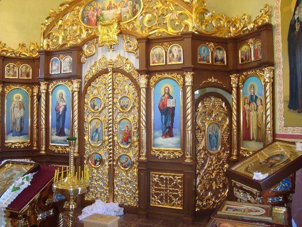 Позолота Поталь Роспись стен, художній розпис, малюнок на стіні