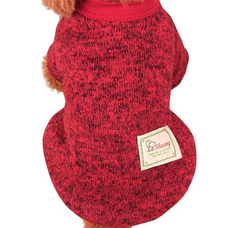 Одноцветный свитер для собак