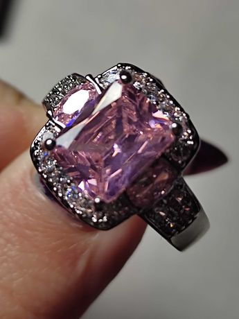 Серебряное кольцо , кольцо с александритом , кольцо 18.5 размер