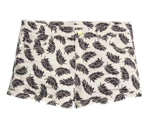 H&M Super szorty spodenki w listki jeansowe HIT lata NOWE r. 32 / XXS