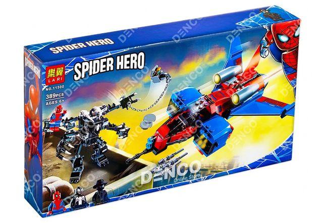 Конструктор Lari 11500 Реактивный самолёт Человека-Паука LEGO 76150
