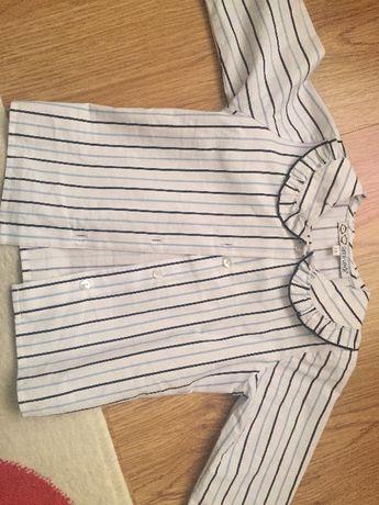 Camisa marca menina e casaco marca Chico 3 anos