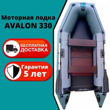 Надувная моторная лодка Avalon Авалон 330 прочностью 1100г.м2