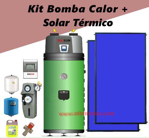 Bomba Calor 200L INOX + Kit Solar Térmico