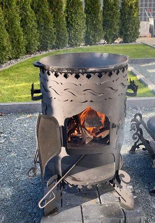 Печь под казан на дровах- печка для казана. Барбекю для дачи. Мангалы.