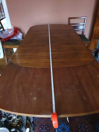 Drewniany stary rozkładany stół