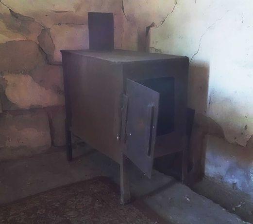 Буржуйка металлическая металл печь печка на дровах на угле переносная