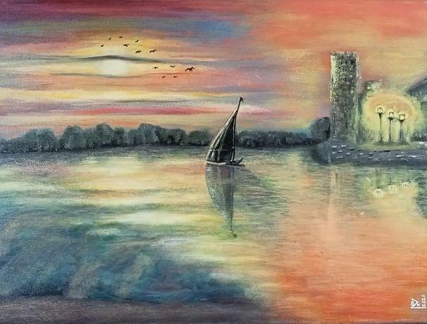 Obraz ''Dryf ku wolności'' - akryl 50x70