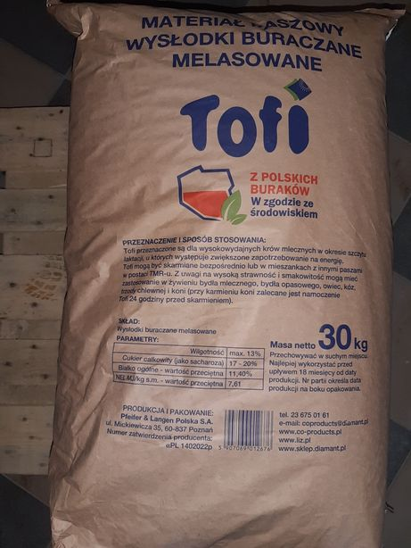 Wysłodki TOFFI tofi orginał wysłodka