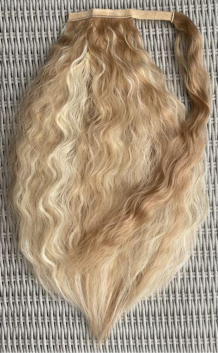 Włosy doczepiane, blond pasemka / refleksy / fale ( 335 ) Szamotuły - image 1