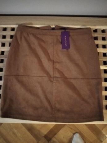 Brązowa spódniczka mini